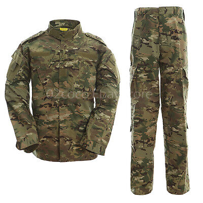 ACU BDU Paintball Combat Camo Camouflage Suit Airsoft Uniform Sets-Jacket Pant