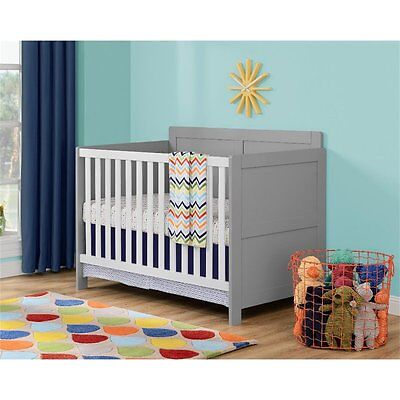 Ameriwood Cosco Willow Lake Crib in Soft Gray White