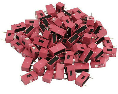 10pcs Slide Type Switch 1-Bit 2.54mm 1 Position DIP Red Pitch New CA