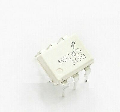 10Pcs Moc3023 Optocoupler Triac-Out 6-Dip Fsc New Good Quality