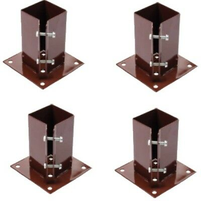 """6 x 75 MM  3"""" BOLT DOWN BOLT GRIP FENCE POST SUPPORT Like Metpost Timber Holder"""