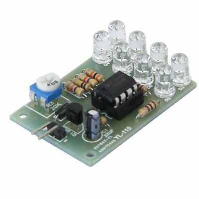 9V LM358 Breathe Light Flashing Lamp 12V Electronic DIY Parts Kits 8 LED Module