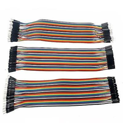 120pcs Dupont Wire Male to Male + Male to Female + Female to Female Jumper Cable
