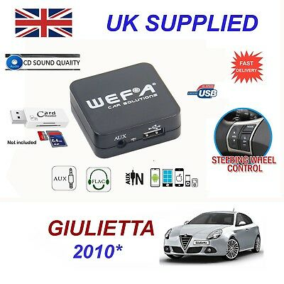 Alfa Giulietta MP3 SD USB CD AUX Input Audio Adapter Digital CD Changer Module