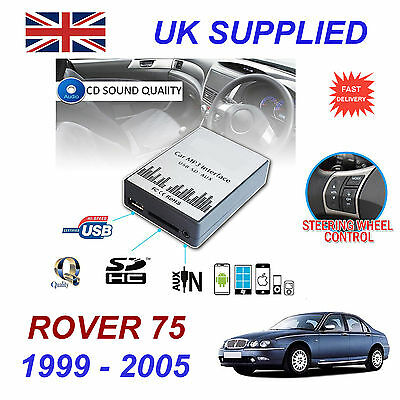 ROVER 75 1999-05 MP3 SD USB CD AUX Input Audio Adapter Digital CD Changer Module