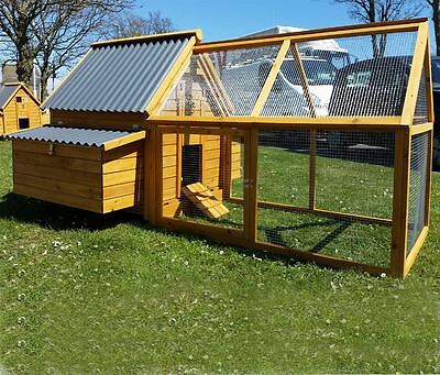 Large Chicken Coop Run Hen House Poultry Nest Box Coops  Plastic 1000 Plus Run