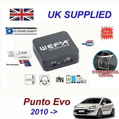 Fiat PUNTO EVO MP3 SD USB CD AUX Input Audio Adapter Digital CD Changer Module