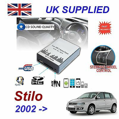 Fiat STILO MP3 SD USB CD AUX Input Audio Adapter Digital CD Changer Module