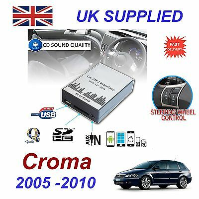 Fiat CROMA MP3 SD USB CD AUX Input Audio Adapter Digital CD Changer Module