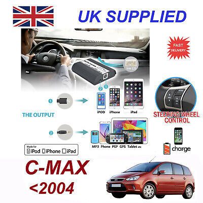 Ford CMAX MP3 SD USB CD AUX Input Audio Adapter Digital CD Changer Module 12 pin