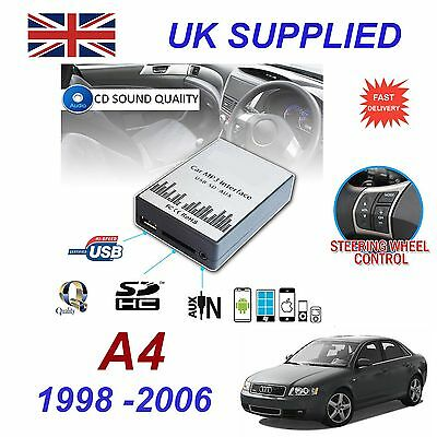 AUDI A4 1998- 06 SD MP3 USB CD AUX Input Audio Adapter Digital CD Changer Module