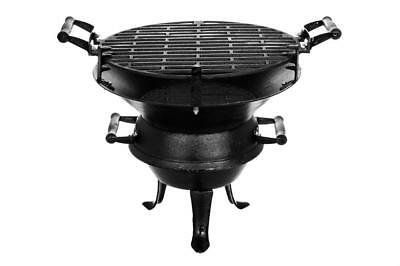 Firepit Fire Basket Barbeque Bbq Grill Charcoal Cast Iron Stand Outdoor Patio