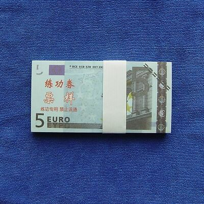 5 Euro 100pcs Paper Money Notes Training Collect Learning Banknotes