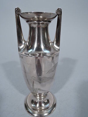 Gorham Vase - Aesthetic Japonesque Amphora - American Sterling Silver - 1876