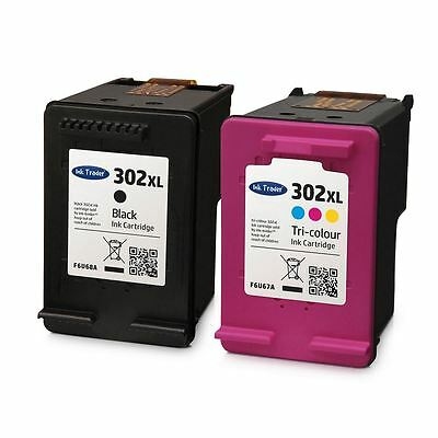 HP 302 XL Ink Cartridges Combo - Black & Colour Ink For HP Envy 4520 Printers