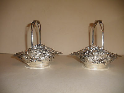 Nice Pair Antique Gorham Sterling silver  aesthetic  Basket baskets
