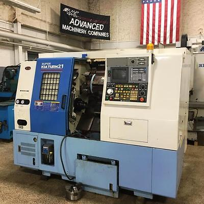"KIA Super Kia Turn 21 CNC Turning Center Lathe with 8"" 3-Jaw, Collet Chuck, TS"