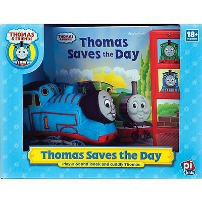 Publications Int. Thomas Saves the Day Plush Toy with Play-A-Sound Book
