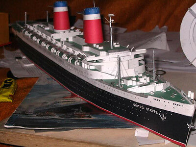 3D DIY Paper Model Kit 1/400 Scale SS United States Luxury Passenger Liner Ship