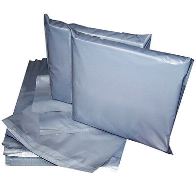 4.5x6.5' Strong Grey Mailing Post Poly Postage Bags Self Seal Cheap No Smell CS