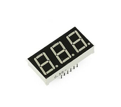 10PCS 0.56 inch 3 digit Red Led display 7 segment Common cathode CA
