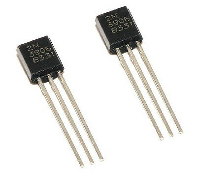 50Pcs New 2N3906 TO-92 General Propose PNP Transistor  NEW CA