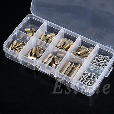 120Pcs M3 Male Female Hex Brass Spacer Standoffs PCB Board Screws Nut Assortment