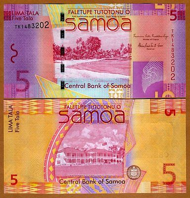 Western Samoa, 5 Tala, ND (2012), P-38 (38b), New Sign., UNC