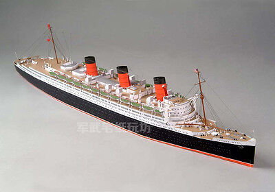 3D DIY Paper Model 1/400 British Royal Mail Steamer RMS Queen Mary Ocean Liner