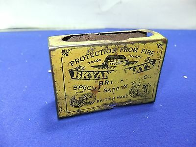 ww2 ww2 match box cover bryant & mays lithograph  tin