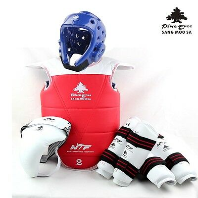 PINE TREE Taekwondo Complete set WTF Competition Sparring Equipment Ladies