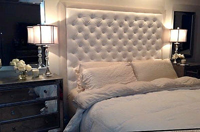 """Top Quality Faux Leather Bedworth Diamonte Headboard In   36"""" Height"""
