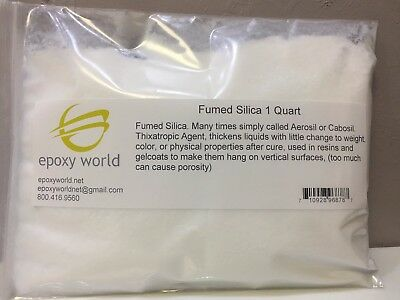 FUMED SILICA (AEROSIL) 1 Quart  For thickening resins. FREE SHIPPING