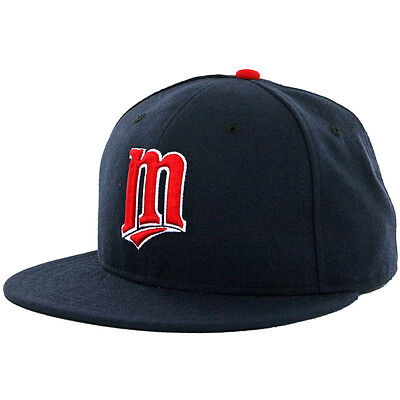 "New Era 59Fifty Minnesota Twins Alternate  ""M"" 2013 Fitted Hat (Navy) MLB Cap"