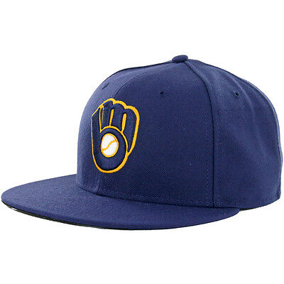 "New Era 59Fifty Milwuakee Brewers ""Alternate 2"" 2016 Fitted Hat (Navy) MLB Cap"