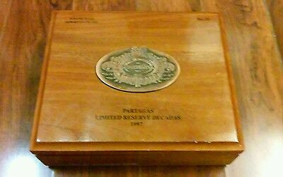 Lot 11 of 1 PARTAGAS LIMITED RESERVE DECADAS 1997 WOODEN CIGAR BOX