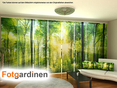 fotogardinen wald schiebevorhang schiebegardinen 3d fotodruck auf ma eur 15 00 picclick de. Black Bedroom Furniture Sets. Home Design Ideas
