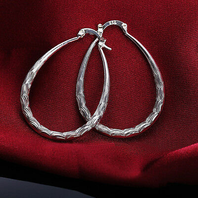 Silver Plated Dangle Earrings Womens Fashion Hoops Jewelry Cheap Circle h
