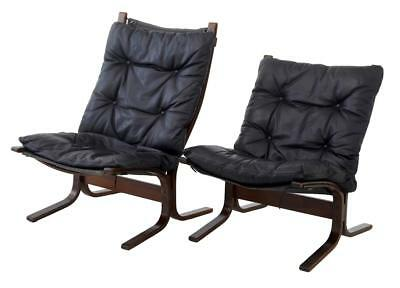 2 Norwegian Leather Armchairs