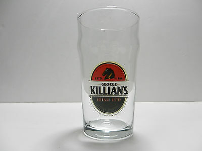 George Killian's Irish Red Premium Lager Beer Glass with Laser Etching