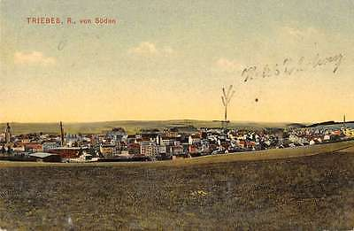 Triebes Thuringia Germany panoramic birds eye view of area antique pc Y14594