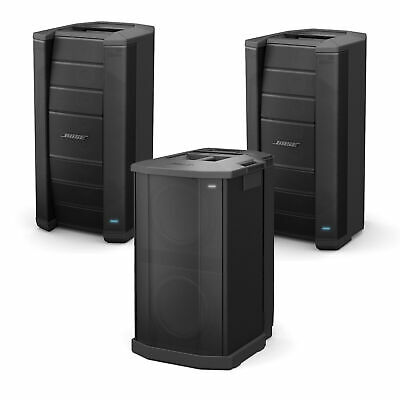 Two Bose F1 Flexible Array Loudspeakers with F1 Subwoofer