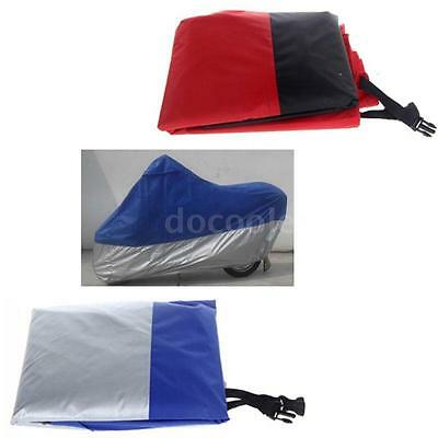 Blue XL Motorcycle Moped Scooter Cover Rain Cover Waterproof UV Protection B6Z1