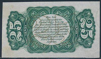 Fr1294-Sp 25¢ Fractional Proof Note Reverse Green With Specimen Bs9424