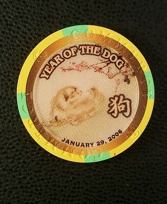 commerce casino ca chinese new year of the dog  $5 casino chip unc