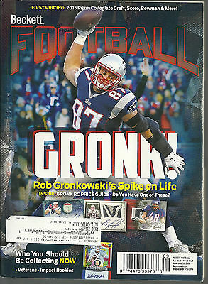 Beckett Football Card Monthly Price Guide Sept 2015 Gronk Cover