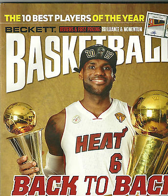 Beckett Basketball Card Price Guide Aug 2013 Lebron James Championship Cover