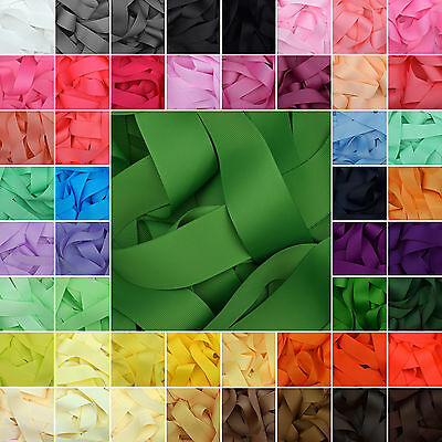 Grosgrain Ribbon in 64 Plain Solid Colours Lilac Passion Fruit Green