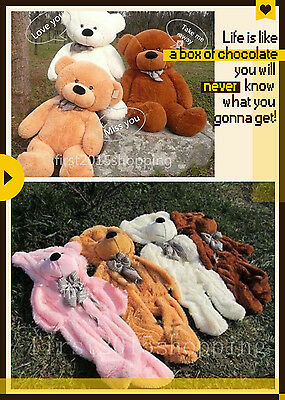 Hot!60-300cm Huge Giant super Semi-finished Teddy Bear Skin(without cotton)