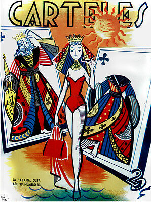 "11x14""poster on CANVAS decor.Room art.Queen of Poker in swimsuit.6740"